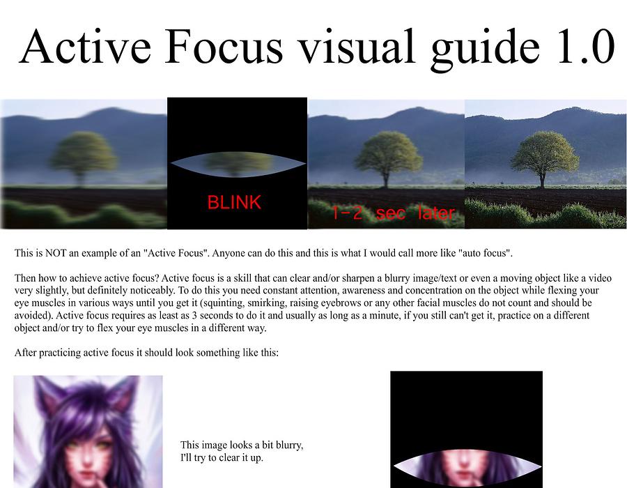 Active focus