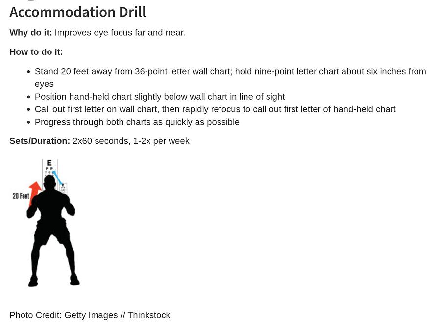 AF accommodation dril